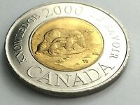 2000 Canada 2 Two Dollar Toonie Canadian Brilliant Uncirculated Coin K965