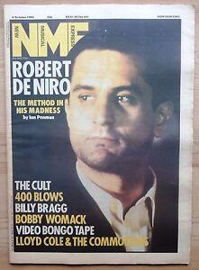 NME 6 OCT 1984 ROBERT DE NIRO THE CULT BILLY BRAGG LLOYD COLE 400 BLOWS U2 FGTH