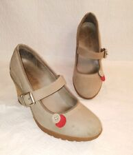 TIMBERLAND Earthkeepers Stratham Heights Mary Jane Shoes Heels Women's Sz 6.5