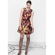 Size 16 UK KAREN MILLEN Multicolour Blossom Floral Print Skater Dress Occasion