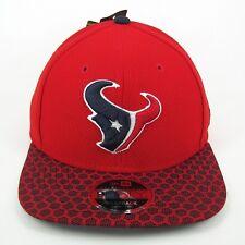 New Era Men's NFL Houston Texans Team Colors Hex Tech 950 Snapback Cap - M/L