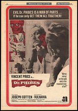 THE ABOMINABLE DR. PHIBES__Original 1970 Trade Print AD_poster__Rare movie promo