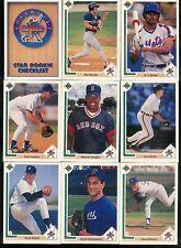 1991 UPPER DECK BASEBALL COMPLETE SET 1-800