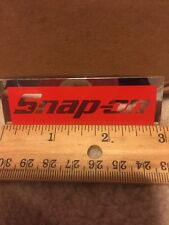 """Snap-on Genuine 3"""" x 1"""" Sticker Decal Red and Mirror Finish"""