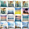 Sea Series Cotton Linen Waist Throw Pillow Case Cushion Cover Home Sofa Decor