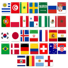 2018 Russia World Cup 32 Football Teams Bunting Flags Banner Decorations Square