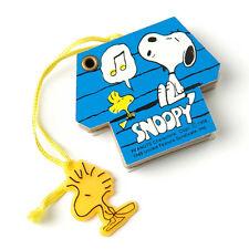 Vintage Snoopy Woodstock Blue Mini Dog House Telephone Address Book Peanuts