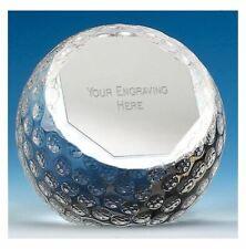 PA04 Crystal Golf Trophy