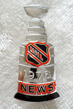 Sterling 1976 NHL Stanley Cup Press Pin Flyers Canadiens Hockey Media Badge News
