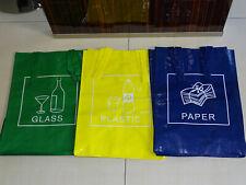 Kunststofftaschen Glas Papier Plastik Recycling Sortieren Müll Beutel NEU