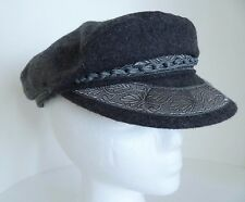 Greek Fisherman Gray Wool Blend Hat Cap Dorfman Pacific Made in Greece