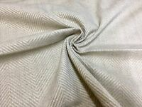 MARK & SPENCER / NEXT CREAM NATURAL CHENILLE UPHOLSTERY FABRIC 1.8 METRES