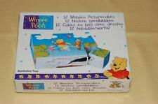 Winnie The Pooh 12 Wooden Picture Cubes Puzzle Bambolino Toys Netherlands