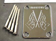 Fender USA Hot Rod 60's Strat Guitar SERIAL NUMBER NECK PLATE w/ SCREWS & TAG!!!
