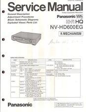 Panasonic Original Service Manual per Panasonic NV-HD 600