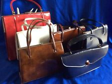 Collection/Bundle 6 Vintage Faux Leather Kelly Bags-Made In England-C1950/60's
