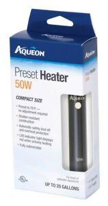 Aqueon Fully Submersible Tropical Aquarium Preset Heater 50 Watt