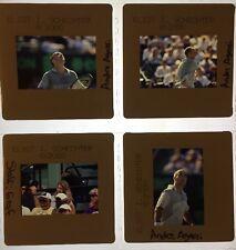 Lot Tennis Ericsson Open Andre Agassi Steffi Graf 2000 35mm Slide Press Photo