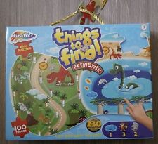 230 THINGS TO FIND 100 PIECES PREHISTORIC DINOSAURS KIDS JIGSAW PUZZLE & GAME 3+