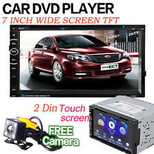7'' 2 Din Touch Screen In dash Car Stereo Radio Mp3 CD DVD Player FM Aux Camera
