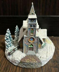 "1996 Hawthorne Village Thomas Kinkade 'MOONLIT CHURCH"" Painter of Light 78022"