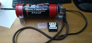 Amplifier Car Audio Power Capacitor XCAP-2000 2-Farad With Power Block