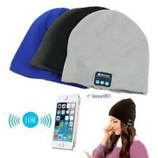 Warm Beanie Hat Wireless Bluetooth Smart Cap Headphone Headset Speaker Mic DF