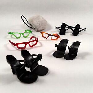 Vtg FASHION DOLL LOT 10-1/2 inch Miss Revlon Jill AC Toni High Heels Sunglasses