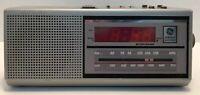 Vintage GE AM/FM Alarm Clock Radio Model 7-4637A General Electric Two Wake Times