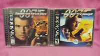 007 Bond Never Dies + Not Enough -  Playstation 1 2 PS1 PS2 Game Lot Complete