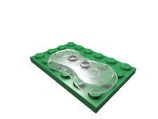 2 x [neu] LEGO Platte 2 x 4 mit gekrümmten Seiten - transparent-klar - 88000