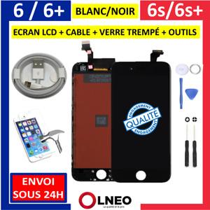 Ecran LCD Complet iPhone 6 6s 6+ 6S+ /Plus Noir Blanc Vitre Tactile sur Châssis