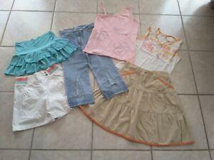 Lot de vêtements fille 10 ans jupe Orchestra T-shirt pantalon Gémo Kiabi