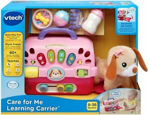 VTech Care for Me Learning Carrier Educational Toy Pink Puppy