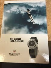 Tag Heuer Watch THE DIVER Store Display COUNTER Advertising Cardboard Sign SWIM