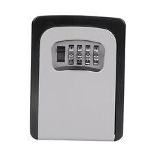 Key Lock Box Wall Mounted Aluminum Alloy Key Safe Box Weatherproof Gray