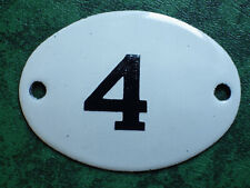 Russia USSR Soviet Apartment Flat Door Hot Enamel Number Sign 1960s no.4 UNUSED