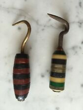 Lot 2 Trench Art? Hook Banded Bakelite Metal Handle