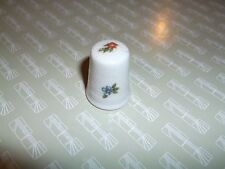 Collector Thimble Limoges France  Small Flowers