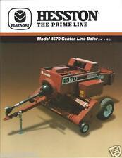 Farm Equipment Brochure - Hesston - 4570 - Center-Line Baler - c1987 (FB286)