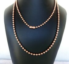 """Solid COPPER BALL CHAIN Necklaces 4.5mm ~3/16"""" bead #10 Choose length + Quantity"""