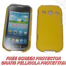 Pellicola+custodia BACK COVER RIGIDA GIALLA per Samsung S7710 Galaxy Xcover 2