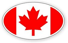 Flag of Canada Vinyl Decal / Bumper Sticker / Label Maple Leaf Canadian Euro