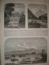 Fresh water fish angling in Scotland 1862 old prints