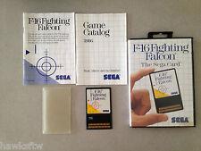 F-16 FIGHTER  - SEGA CARD - COMPLETE - SEGA MASTER SYSTEM GAME