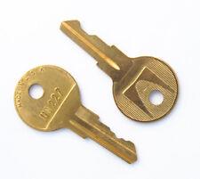 Pair of Herman Miller UM LL Series Key Blank pre-cut to your code
