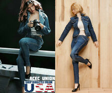 "1/6 Women Jacket Jeans Set A For 12"" Phicen Hot Toys Female Figure U.S.A. SELLER"