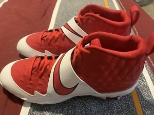 New Mens Nike Force Zoom Trout 6 Fastflex Baseball Cleats Red AT3440-600 Sz 11.5