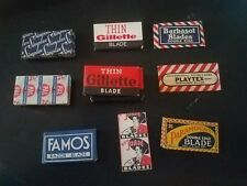 Vintage Safety Razor Blade Lot 56 Gillette Simplex PAL Famos Playtex Barbasol