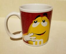 M&M 's Porcelain Mug Coffee Cup Yellow & Red M and M 's Novelty